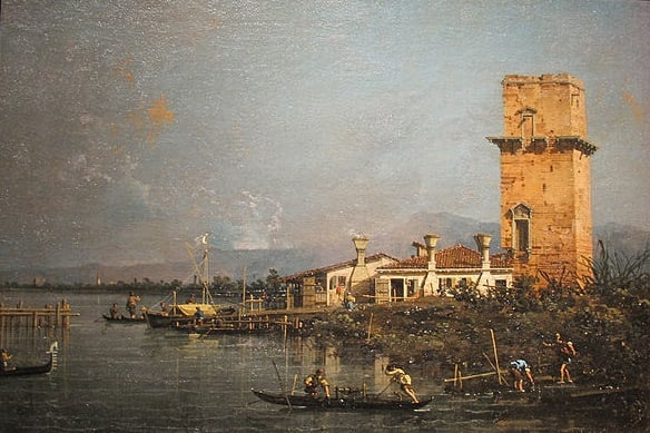 canaletto 1750 torre marghera isola san giulian