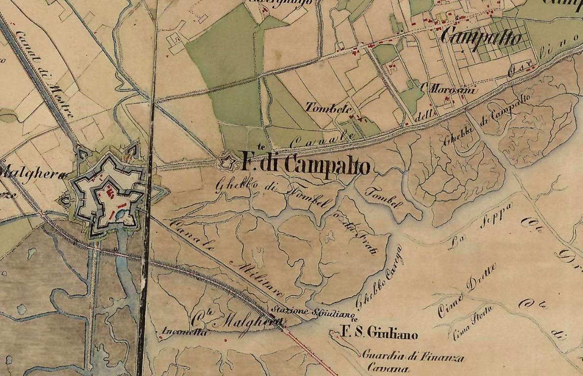 marghera cartografia 1869