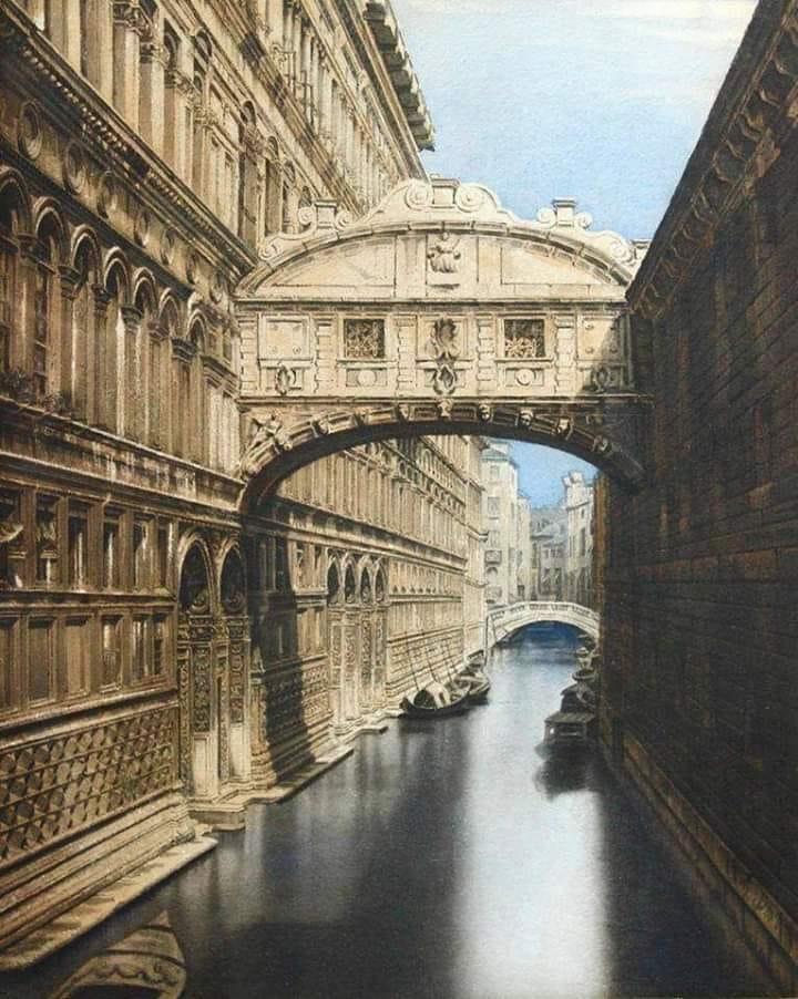 ponte dei sospiri nel 1870