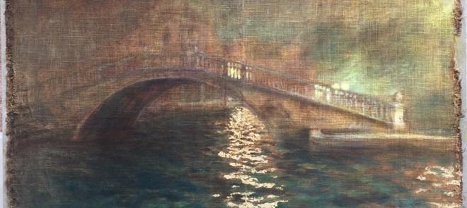 ponte-nella-nebbia-2018-tecnica-mista-su-tela-antica-cm-140-x-98
